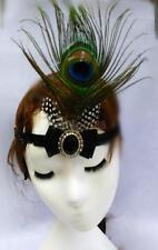 1920's Gatsby Elastic Headpiece Peacock Feather Hair Band Flapper Headband