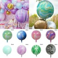 22'' 4D Colorful Marble Latex Balloon Wedding Baby Shower Birthday Party Decor