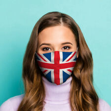 Great Britain Union Jack Flag Face Covering - Large Resuable Double Layer Fac...