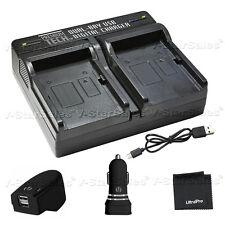 ptd-10 USB dualbattery ACDC Cargador rápido para Sony np-fm50 FM55H FM500H