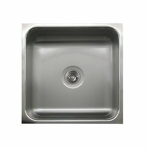 Whitehaus CU2424A-10WH Culinary Chefhaus undermount square sink Stainless Steel
