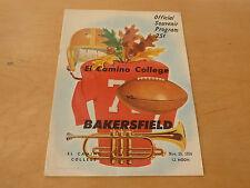 1954 BAKERSFIELD (CA) AT EL CAMINO  (CA) COLLEGE FOOTBALL PROGRAM
