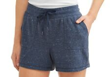 Athletic Works Women's Athleisure Gym Shorts Size Large 12-14 Indigo Blue