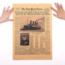 New York Times Poster Titanic Shipwreck Paper Wall Sticker Placard Home Decor