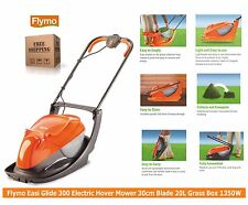Flymo Easi Glide 300 Electric Hover Mower Lawnmower 30cm Blade 20L GrassBox