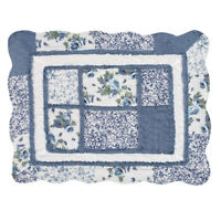 Patchwork Classic Floral Pillow Sham with Scalloped Border, by Collections Etc