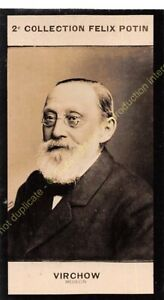 Chromo trade card Photo Rudolf Ludwig Karl Virchow médecin circa 1907