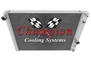 2 Row Aluminum Champion Radiator for 1991 - 1996 Chevrolet Corvette V8 Engine
