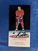 NHL MONTREAL CANADIENS GUY LAFLEUR AUTOGRAPHED POSTCARD