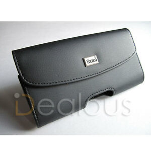 For iPhone 12 Mini  Premium Black Leather Holster Pouch Case Cover Belt Clip