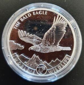 2021 Republic of the Congo 1oz 999.9 Fine Silver Bald Eagle Coin