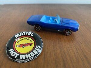 1967 Hot Wheels Redline Blue Custom Firebird Convertible