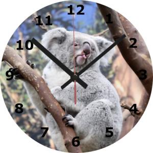 WALL CLOCK KOALA BEAR 25cm Australia Animal Wildlife Nature Home Decor diy 1048