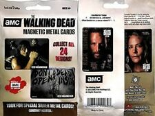 AMC The Walking Dead Magnetic Metal Cards 3 Sealed Packs