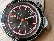 Vintage Aquadive Diver Watch w/Pristine Dial & Bezel,Patina,Large Case,ETA 2873