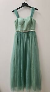 Stunning Evening party wedding Dress  Size 10 turquoise green