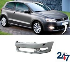 NEW VW POLO 6R 2010 - 2016 FRONT BUMPER WITH HEADLIGHT WASHER HOLES