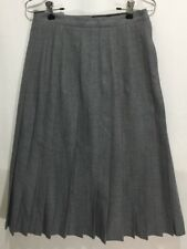 Giorgio Sant Angelo Vintage Pleated Skirt Gray 100% Wool Size 14 Yugoslavia