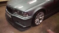 front M bumper lip for BMW E36 WIDE spoiler chin apron valance trim splitter