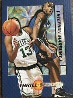 Stephon Marbury RARE Thrill Seekers Insert Fleer 1997-98 Basketball Card