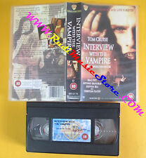 VHS film INTERVIEW WITH THE VAMPIRE 1995 Tom Cruise WARNER inglese (F140) no dvd