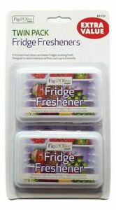 2 X FRIDGE FRESHENER DEODORISER KITCHEN AIR REMOVE SMELL ELIMINATE BAD ODOUR NEW