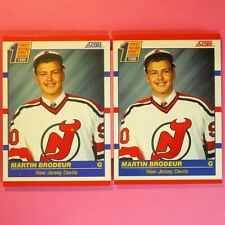 Lot of 2   MARTIN BRODEUR  ROOKIE  CAN / AMER  Score #439   NJ Devils