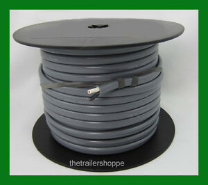 Trailer Light Cable Wiring Harness 14 Gauge 2 Wire Jacketed Gray 100' Roll