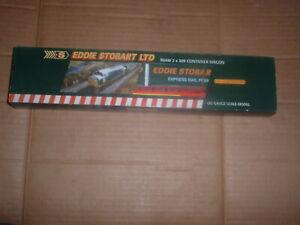 HORNBY 00 GAUGE R.6100 EDDIE STOBART LTD CONTAINER  WAGON  MINT/BOXED
