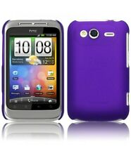 Purple Hard Shell Cover Case Rubber for HTC Wildfire S