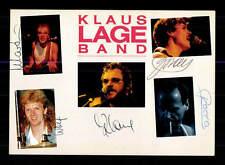 Klaus Lange Band  Autogrammkarte Original Signiert ## BC 95896