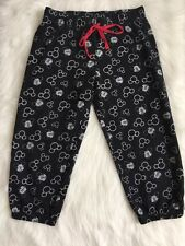 Disney Mickey Mouse Sweat Pants Cropped Girls Junior Medium 7/9