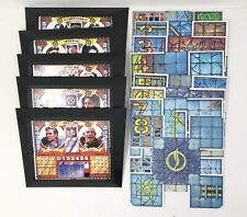 Mutant Chronicles Game 8 Board Sections 5 Hero Trays Replacement Pieces Pressman