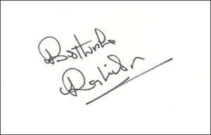 Ray Wilson Signed White Card 1966 World Cup Huddersfield Everton - AUTHENTICATED