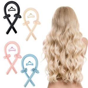 1x Silk Ribbon Hair Curler Heatless Curling Rod Women Girl Headband Wave Former