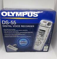 Olympus DS-55 Digital Voice Recorder 1GB,260hr recording, metal body