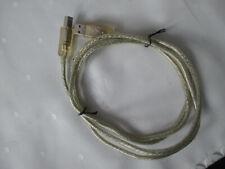 USB-KABEL, A zu B Druckerkabel, 1,50m, Farbe - silber/klar