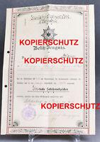Alte Urkunde Schützenabzeichen Eisenbahn Regiment No. 2 Berlin 1906 Garde