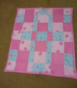 """Handmade Quilt Baby Changing Pad, blanket  31"""" x 27"""" cotton/ fleece"""