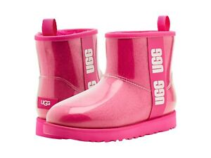 UGG Women's Classic Clear Mini Ankle Boot 1113190 Rock Rose Sz 5-12 NEW