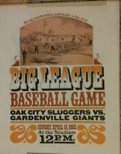 Reproduction Print of 1883 Big League Baseball Game