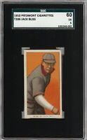 Rare 1909-11 T206 Jack Bliss Piedmont 350 St Louis SGC 60 / 5 EX