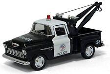 Kinsmart 1:32 Display 1955 Chevrolet Stepside Pickup Police Diecast Car KT5330DP
