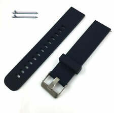 Dark Blue Silicone Replacement Watch Band Strap With Quick Release Pins #4107