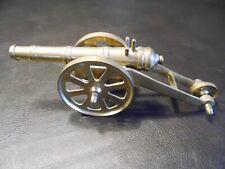 "Vintage Brass 3 Working Wheels Canon Model 10"" Long Civil War Military Display"