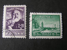 *POLAND, SCOTT # B57+B 58(2), COMPLETE SEMI POSTAL 1947-48 RECONSTRUCTION USED