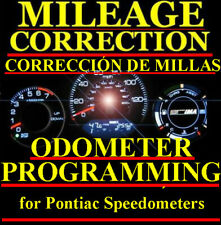 Pontiac Speedometer Instrument Gauge Cluster Mileage Odometer PROGRAMMING