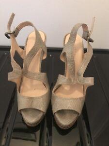 """Witchery Snakeskin Platform Heels"" - Size 36 in Very Good Condition"
