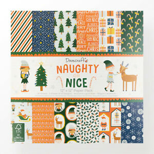 """Dovecraft Naughty or Nice paper pack 6"""" 8"""" 12""""- sample or full pack - FREE P&P"""