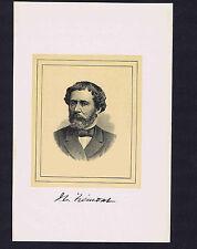 John C. Frémont, Explorer, Soldier, Anti Slavery -1901 Woodcut Portrait Print